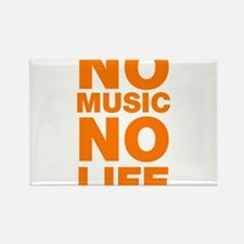 No Music No Life Rectangle Magnet
