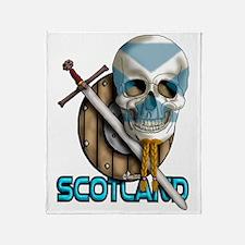 Bearded Skull Throw Blanket