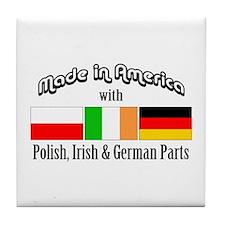 Polish-Irish-German Tile Coaster