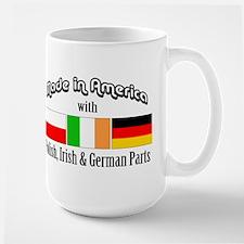 Polish-Irish-German Large Mug