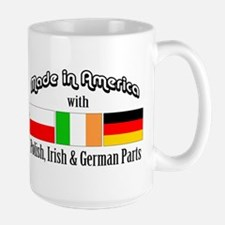 Polish-Irish-German Mug