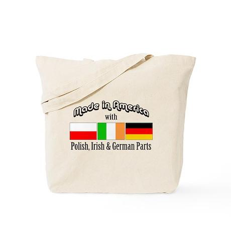 Polish-Irish-German Tote Bag