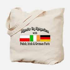 Polish-Irish-German Tote Bag