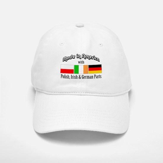 Polish-Irish-German Baseball Baseball Cap