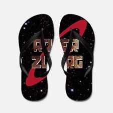 Roter Zwerg with stars Flip Flops