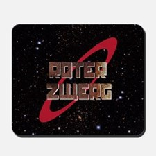Roter Zwerg with stars Mousepad