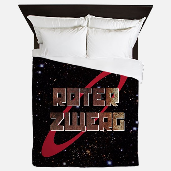 Roter Zwerg with stars Queen Duvet