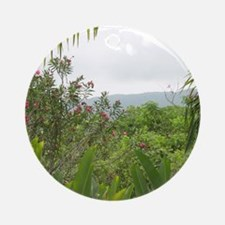 Jamaican Jungle Round Ornament