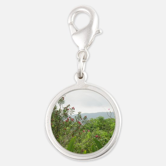 Jamaican Jungle Silver Round Charm