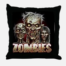 zombies_shower Throw Pillow