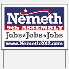 Nemeth2012 Banner Yard Sign