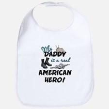 My Daddy is a Real American H Bib