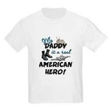 My Daddy is a Real American H Kids T-Shirt