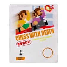 8 bit Chess With Death Throw Blanket