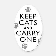 KeepCat_K_DUO Oval Car Magnet