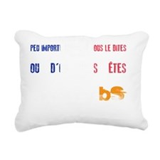 MS is BS in French Rectangular Canvas Pillow