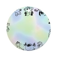 Tytys Planet Frame Round Ornament