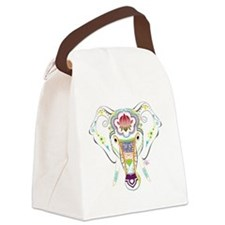 Jewel Elephant Canvas Lunch Bag