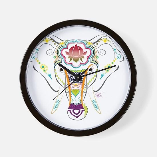Jewel Elephant Wall Clock
