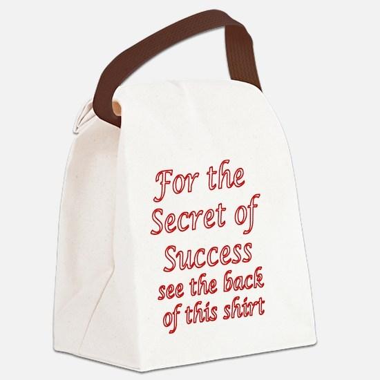 Secret Of Success Canvas Lunch Bag