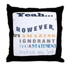 funny-how-sick-crohns-blk Throw Pillow