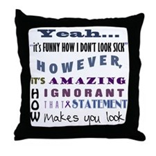funny-how-sick-crohns Throw Pillow