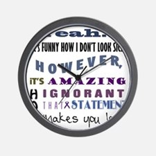 funny-how-sick-crohns Wall Clock