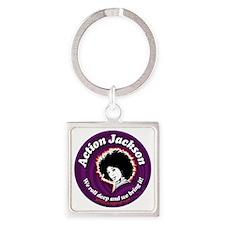 AJ-round-Sticker Square Keychain
