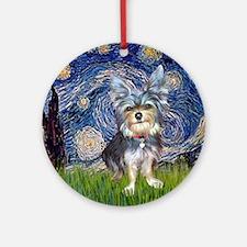 Starry-AustralianTerrier2 Round Ornament