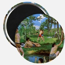 bathers-summer-scene-1869 Frederic Bazille Magnet