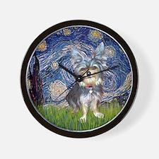Starry-AustralianTerrier2 Wall Clock
