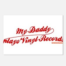 My Daddy Plays Vinyl Records Postcards (Package of