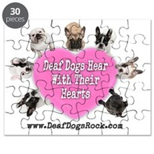 Deaf Dogs Hear With Their Hearts - Pink Puzzle