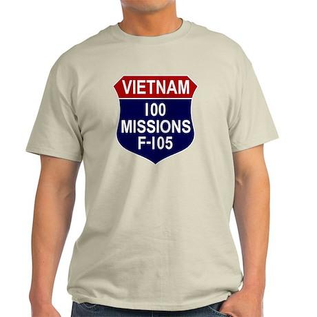 100 MISSIONS - F-105 Light T-Shirt