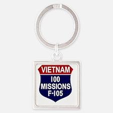 100 MISSIONS - F-105 Square Keychain