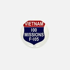 100 MISSIONS - F-105 Mini Button