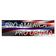 Pro American Pro Obama Bumper Sticker