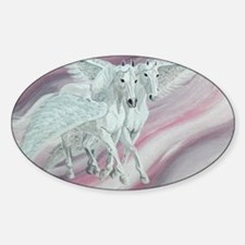 pair of pegasi Sticker (Oval)