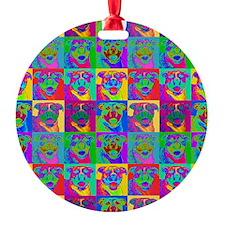 Op Art Pitbull Ornament