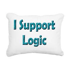 I Support Logic Rectangular Canvas Pillow