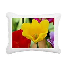 Yellow Tulip Rectangular Canvas Pillow