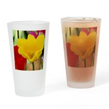 Yellow Tulip Drinking Glass