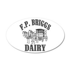 fp briggs dairy Wall Decal