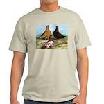 Shortfaced Tumbler Pigeons Light T-Shirt
