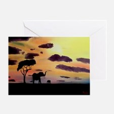 African Evening Greeting Card