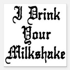 "drinkSh3A Square Car Magnet 3"" x 3"""