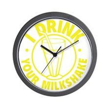 drinkMilksh1F Wall Clock