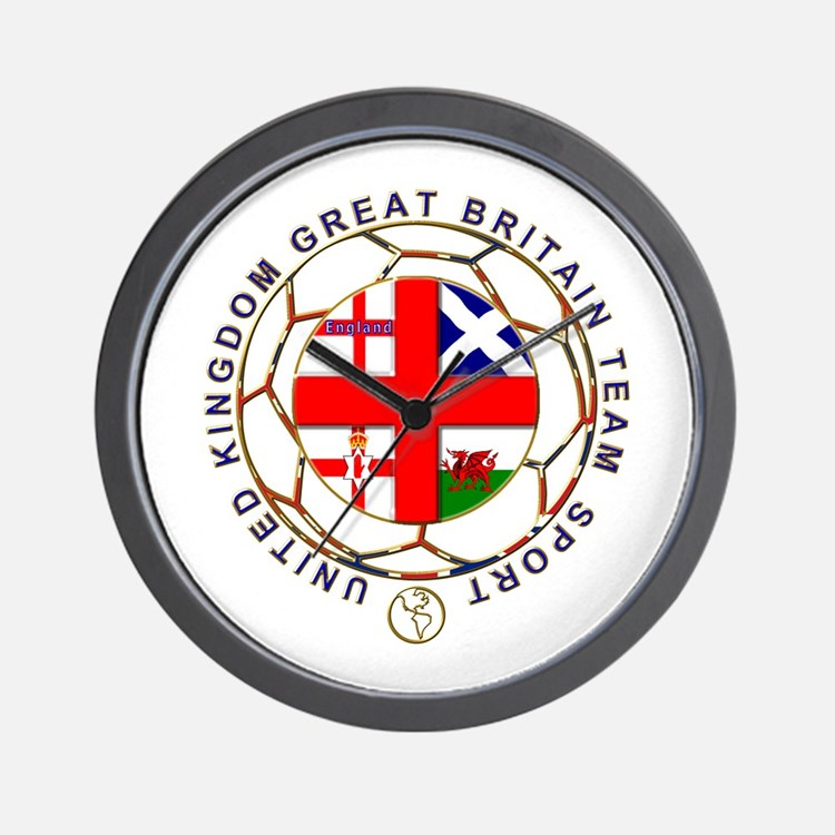 Great Britain team sport national flag  Wall Clock