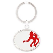 netherlands antilles Oval Keychain