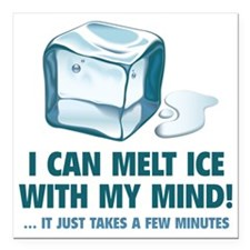 """iCeMeltMind1A Square Car Magnet 3"""" x 3"""""""